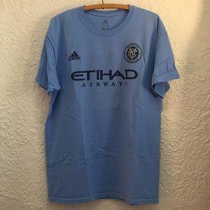 Adidas NYC FC David Villa Tee Shirt Jersey MLS